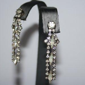 Stunning vintage rhinestone drop earrings